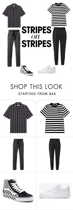 """""""/////"""" by kidwithink90s ❤ liked on Polyvore featuring President's, Haider Ackermann, La Perla, Vans, NIKE, men's fashion, menswear, stripesonstripes and PatternChallenge"""
