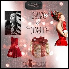 """Save the Date! Any Black Dress"" by anyblackdress on Polyvore"