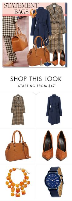 """""""Statement Bags"""" by elza76 ❤ liked on Polyvore featuring Mansur Gavriel, Mulberry, Warehouse, Hush Puppies, Balmain, Kenneth Jay Lane and FOSSIL"""