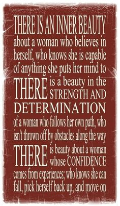 Know your inner beauty. I have this ablitiy, and I'm honored to be blessed with this precious gift!