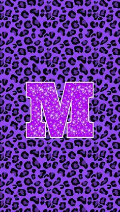 Monogram Wallpaper, Name Wallpaper, Cellphone Wallpaper, Iphone Wallpaper, Cool Backgrounds Wallpapers, Purple Animals, Animal Print Wallpaper, Balloon Banner, Glitter Letters