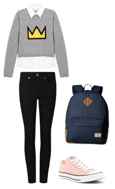 """School day"" by macleecell ❤ liked on Polyvore featuring Alice + Olivia, Vans and Converse"