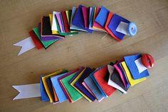 Fine Motor Activities montessori | MONTESSORI - just threading the button through the felt squares.