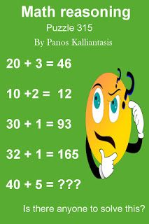Mind Puzzles, Maths Puzzles, Brain Teasers, Missing Number, Beautiful, Mind Games, Math Puzzles Brain Teasers, The Riddler