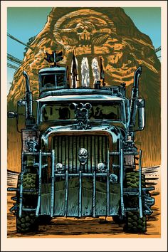 BROTHERTEDD.COM - xombiedirge:   UnReal Estate IV: The Movie by Tim... Mad Max Fury Road, Spoke Art, Art Gallery, Truck Art, Cool Art Drawings, Motorcycle Art, Post Apocalypse, About Time Movie, Geek Art