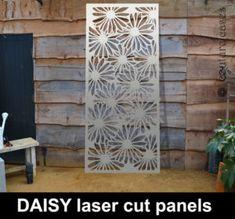 Beautiful Garden Panels In Laser Cut Metal In Floral Daisy Pattern