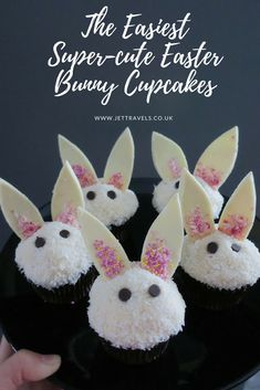The easiest, cutest, quickest easter bunny cupcakes <3