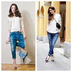 HELEMAAL TREND DEZE ZOMER... STOERE JEANS EN KANT. Helemaal leuk toch, een stoere jeans met vrouwelijk kant! Is dit jouw stijl? Volop nieuwe leveringen!