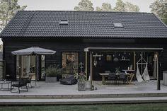 Modern Barn House, Modern House Plans, Small House Plans, Backyard Studio, Backyard Patio, Open Floor House Plans, Modern Farmhouse Exterior, Architecture Plan, Black House
