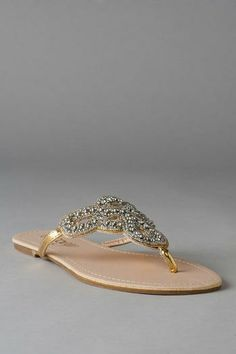 these sandals are perfect to complete the look. who doesn't love a little sparkle? Soliela Beaded Sandal