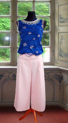 Stoffhose Rosa Culotte. Gr. XS von SONKOi auf Etsy
