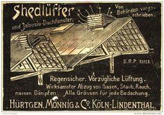 Original-Werbung/ Anzeige 1901 - SHEDLÜFTER / HÜRTGEN , MÖNNIG & CO. - KÖLN - LINDENTHAL - ca. 90 x 70 mm
