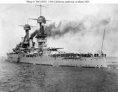 Built at the Mare Island Navy Yard in California, it was the second ship in the Tennessee class of battleships. Description from mesotheliomasymptoms.com. I searched for this on bing.com/images