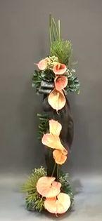 By Gordon Lee Contemporary Flower Arrangements, White Flower Arrangements, Flower Centerpieces, Art Floral, Floral Design, Ikebana, Garden Works, Corporate Flowers, Memorial Flowers