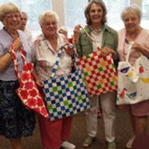 Sew What's New NG makes tote bags for Beneva Church Food Bank