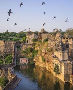 Jaya Stambh and Kirti Stambh in Chittorgarh, India. https://ExploreTraveler.com