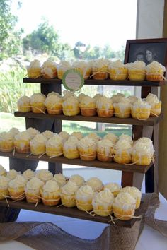 The Cupcake Stand – 4 Tiered Rustic Wooden Display Stand – Weddings – Parties – Craft Fairs – Boutiques - Brautparty Ideen Rustic Cupcake Stands, Rustic Cupcakes, Wedding Cupcakes, Graduation Cupcakes, Wedding Cake, Rustic Cupcake Display, Diy Cupcake Stand, Cupcake Stand Wedding, Cupcake Wraps