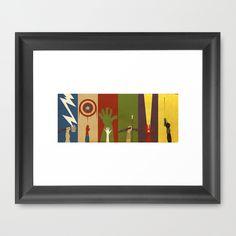 Assemble Framed Art Print by Danny Haas