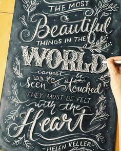 Fantastic chalk board work by @kimpanella | #typegang if you would like to be featured | typegang.com | typegang.com #typegang #typography (chalk art ideas)