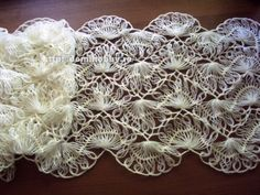 free pics of how to hairpin lace great site Вязание на вилке палантина: