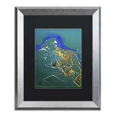 "Trademark Art ""Angel with St Jerome"" by Lowell S.V. Devin Matted Framed Painting Print Size: 20"" H x 16"" W x 0.5"" D"