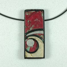 Beige Curl Pendant Necklace - METAL FREE by JanGeisen, via Flickr