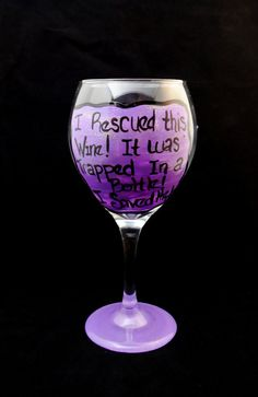 red wine glass, painted in Purple with silver glitter! Swirls and dots decorate the surrounding glass. Decorated Wine Glasses, Hand Painted Wine Glasses, Diy Glasses, Glasses Funny, Wine Glass Designs, Wine Craft, In Vino Veritas, Bottle Crafts, Glass Art