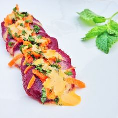 Summer Beet Salad: boiled beets in a lemon olive oil salt pepper garlic powder and Sarayo Sweet dressing, topped with shredded carrots, finely chopped mint leaves and of course a little more Sarayo Sweet for a touch more of elegance! #sarayosauce #salad #beets #beetsalad #SarayoSweet #foodart #foodie #lowcarb #glutenfree #lowsugar #sarayo #nomnom #mint #spicy #spicysauce #srirachamayo #foodheaven #foodblogger #veggies #sidedishes #howisummer #homemade