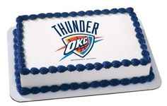 14 Sheet  NBA Oklahoma City Thunder Basketball Logo  Edible Image CakeCupcake Topper *** Read more reviews of the product by visiting the link on the image.  This link participates in Amazon Service LLC Associates Program, a program designed to let participant earn advertising fees by advertising and linking to Amazon.com.