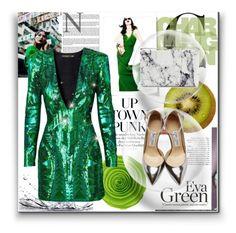 """Green style"" by pirija44 ❤ liked on Polyvore featuring moda, Z Spoke by Zac Posen, Balmain, Jimmy Choo, Balenciaga, women's clothing, women, female, woman e misses"