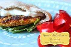 The Busy Baker: Greek-Style Quinoa Burgers