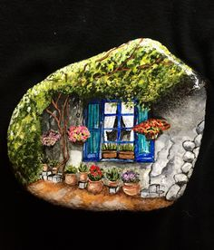 Somewhere to relax. Painted rock