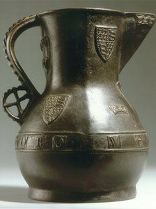 Wenlok Jug, c.1400s.  Rare bronze jug which was on display at the Stockwood Discovery Centre in Luton until it was stolen on Saturday.