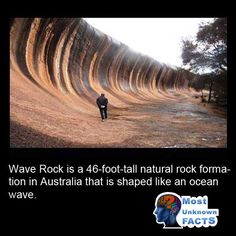 Wave Rock, Ocean Waves, Fun Facts, Country Roads, Australia, Travelling, Nature, Naturaleza, Funny Facts