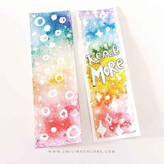 Another tutorial in my rainbow series, this time we'll be creating Rainbow bookmarks and watercoloring with a resist masking! Shopaholic Quotes, Diy Doll Miniatures, Diy Craft Projects, Diy Crafts, Wolves And Women, A Dance With Dragons, Confessions Of A Shopaholic, Losing Friends, Art Bag
