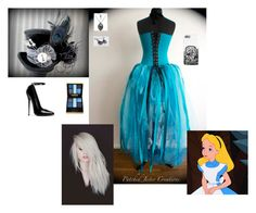 """""""Disney Dark Side ~ Alice"""" by hanakdudley ❤ liked on Polyvore featuring Yves Saint Laurent"""