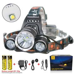 Boruit® Headlamp Headlight 5000 LM with 3*Cree XML T6 LED Super Bright Flashlight for Hunting ** You can get more details by clicking on the image.