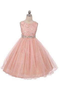159b424a4ec1e Blush+Sleeveless+Shiny+Tulle+Flower+Girls+Dress+with+