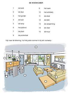 De woonkamer, Nederlands nu, les 1-3 & http://86.93.235.241/nederlandsnu/Nederlands_nu_les_1-3.pdf