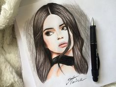 Kendall Jenner drawing by @Artistinx