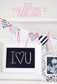 Easy DIY Valentine's Garland on { lilluna.com }