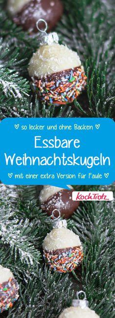 DIY aus der Küche! Essbarer Baumschmuck ist so lecker und sieht toll aus.  #geschenkausderküche #diygeschenke #weihnachtskugeln #glutenfrei #laktosefrei #lowcarb #vegan