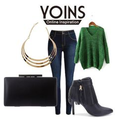 """YOINS III-26"" by hanifasemic ❤ liked on Polyvore featuring women's clothing, women's fashion, women, female, woman, misses, juniors and yoins"