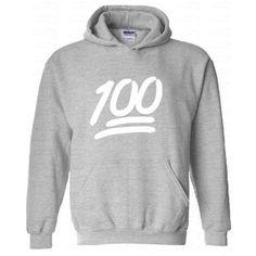 100 Emoji White Logo Hood Sweatshirt Emoji Hoodie Emoji Hoodies Emoji... ($16) ❤ liked on Polyvore featuring tops, hoodies, sweatshirts hoodies, hooded sweatshirt, long sweat shirts, hooded pullover and long hoodie