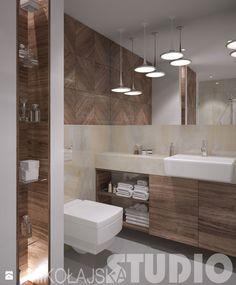 łazienka-nowoczesna klasyka - zdjęcie od MIKOŁAJSKAstudio - Łazienka - Styl… Master Bathroom, Bathroom Lighting, Bathtub, Vanity, Mirror, Furniture, Bathrooms, Home Decor, Bath
