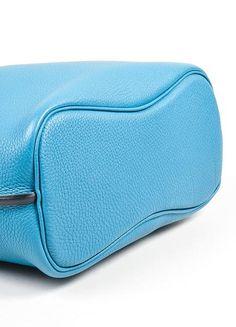 "Hermès Kelly So bag in blue Togo leather Total Height: 13.5"" Total Length: 10.25"" Depth: 5"" Strap Length: 20.75"" StrapDrop: 8.25"""