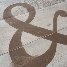 Ampersand on Reclaimed Wood Sign Painted in Shabby by CleverGoose