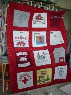 T-Shirt Quilts on Pinterest