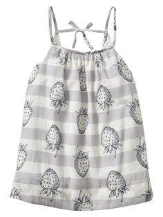 Gap - Strawberry Stripe Swing Dress