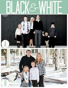 What to wear for family photos: Black & White
